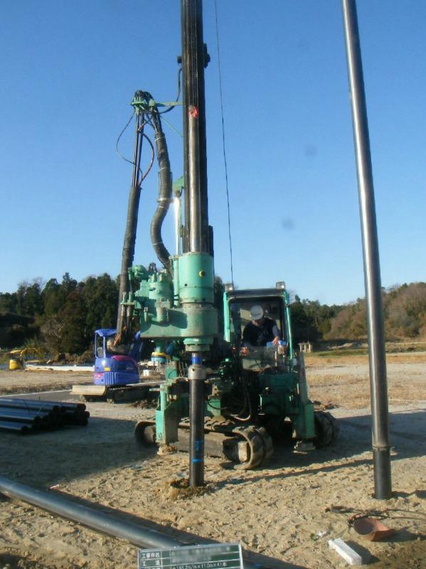 鋼管杭回転圧入工法 施工例